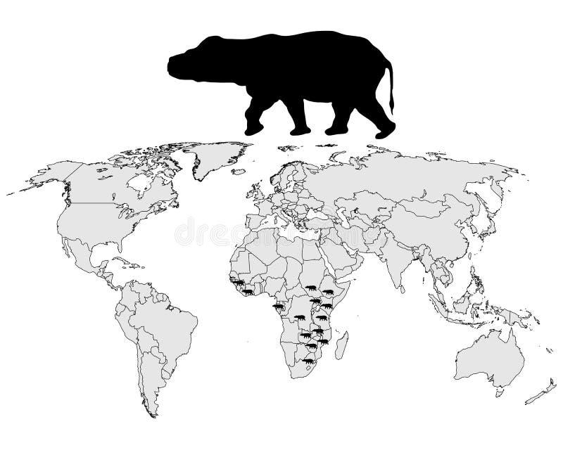 hipopotama pasmo ilustracja wektor
