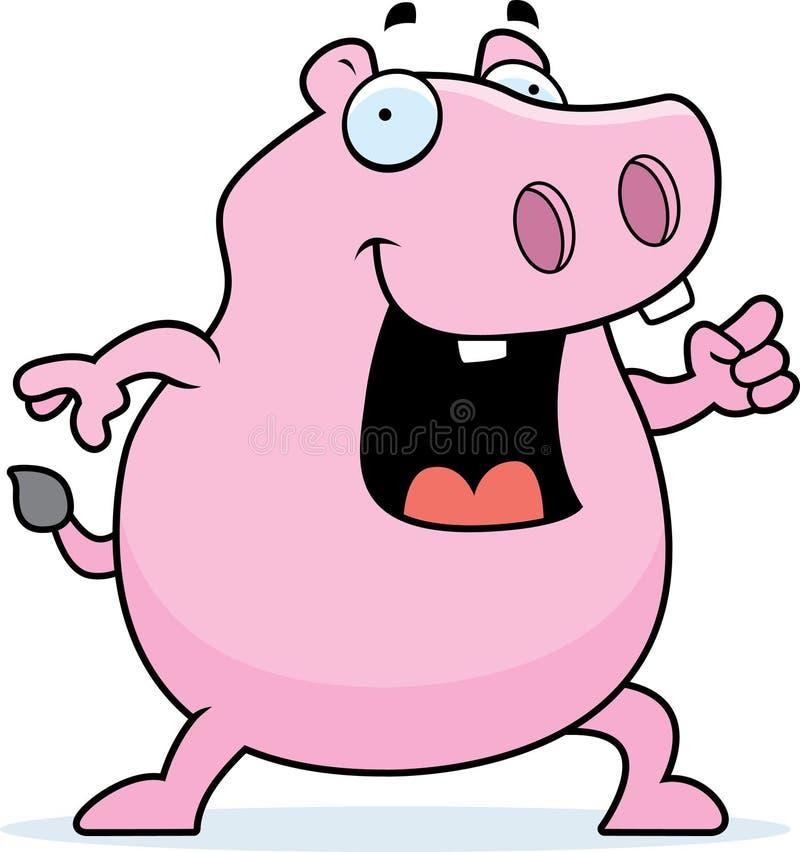 hipopotama pomysł ilustracja wektor