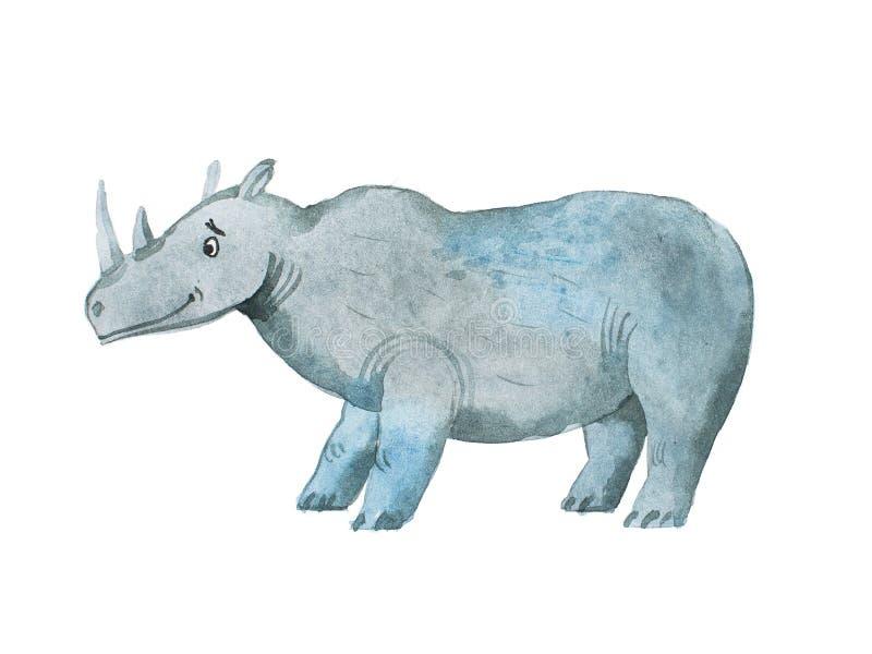 Hipopotamowa ręka rysująca z akwareli Aquarelle ilustracją ilustracji