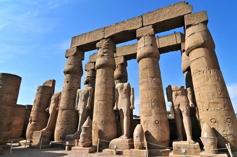 Hipostyl Hall wśrodku Karnak świątyni zdjęcie royalty free