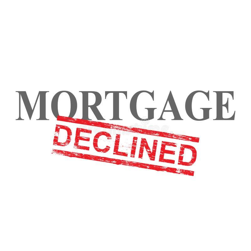 A hipoteca diminuiu o selo da palavra ilustração royalty free