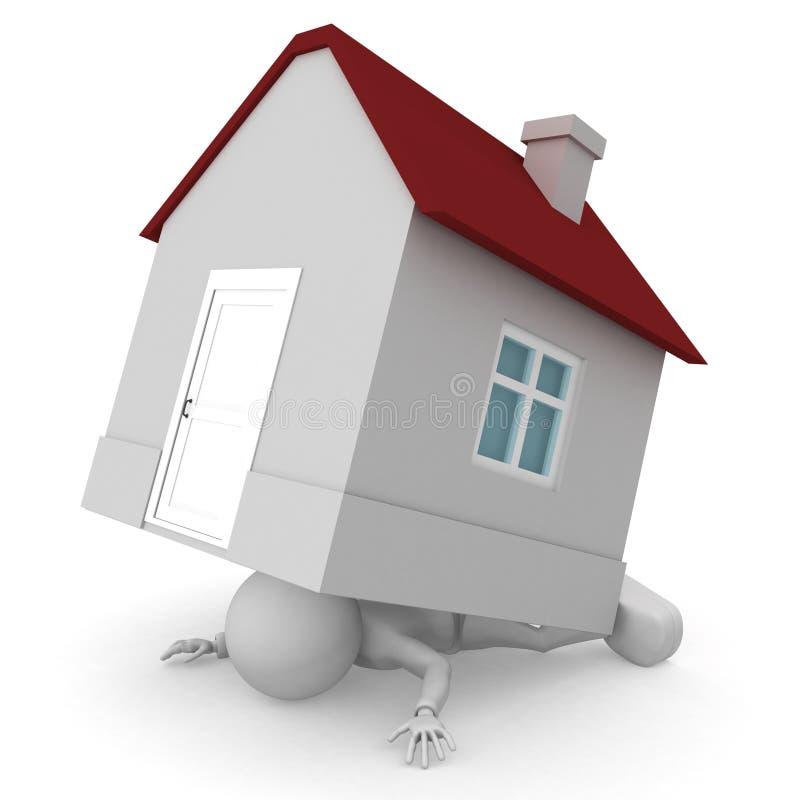 Hipoteca mortal ilustração royalty free