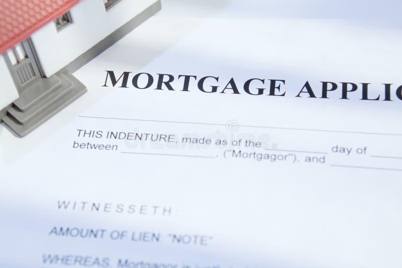 Hipoteca para bens imobiliários fotografia de stock