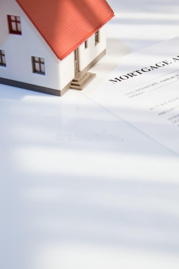 Hipoteca para bens imobiliários imagem de stock royalty free