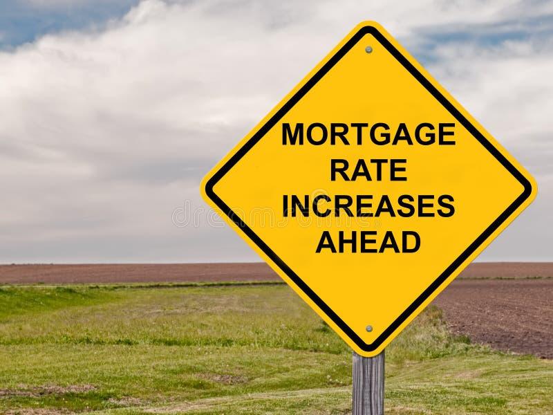 Hipoteca Rate Ahead Warning Sign fotografía de archivo