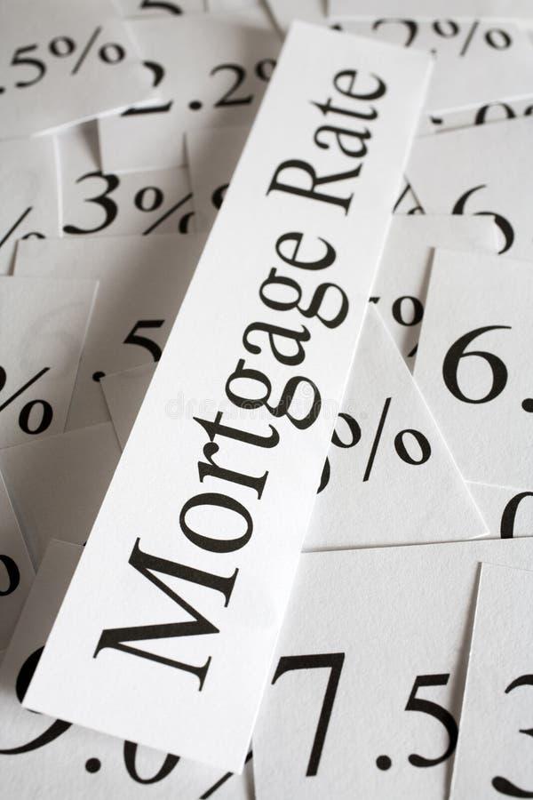 Hipoteca Rate Concept fotos de archivo