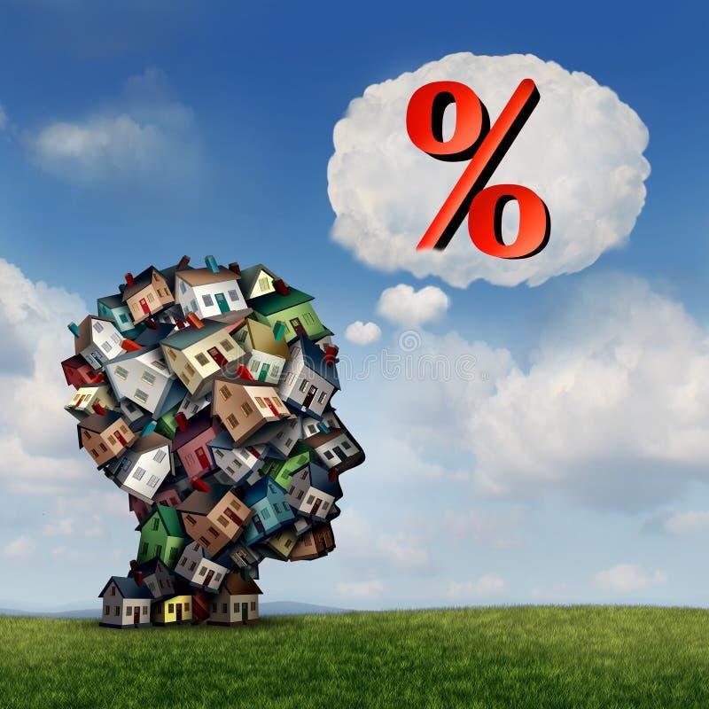 Hipoteca Rate Plan stock de ilustración