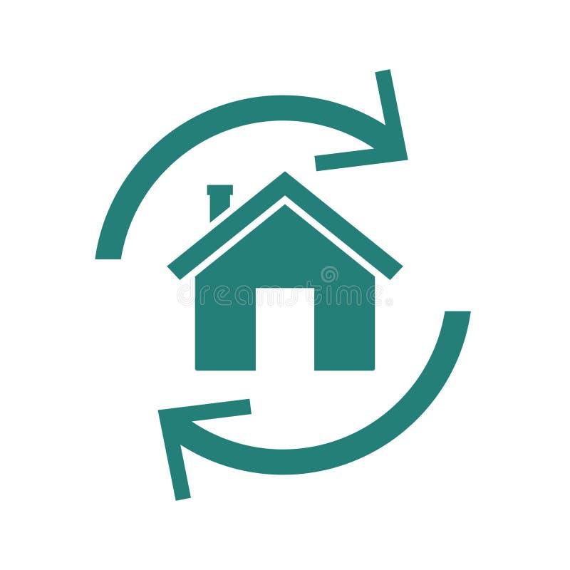 Hipoteca reversa casera ilustración del vector
