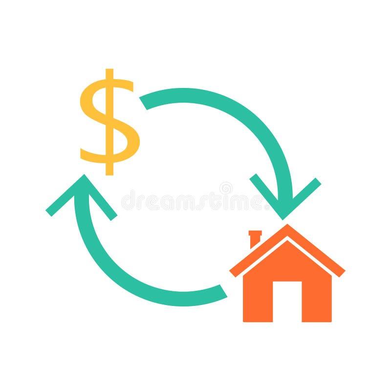 Hipoteca reversa home ilustração stock