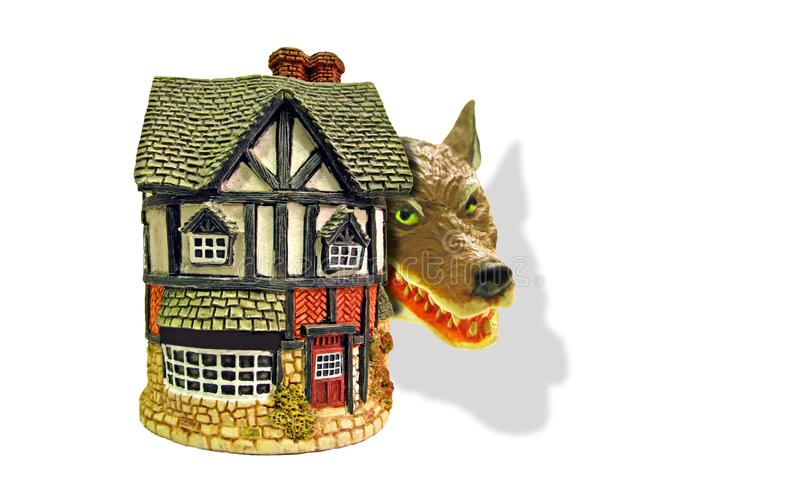 Hipotecznego niebezpieczeństwa drapieżnika wilczy włamywacz burgle domowego strażnika alarma zbawczą ochronę bezpiecznie zdjęcie royalty free