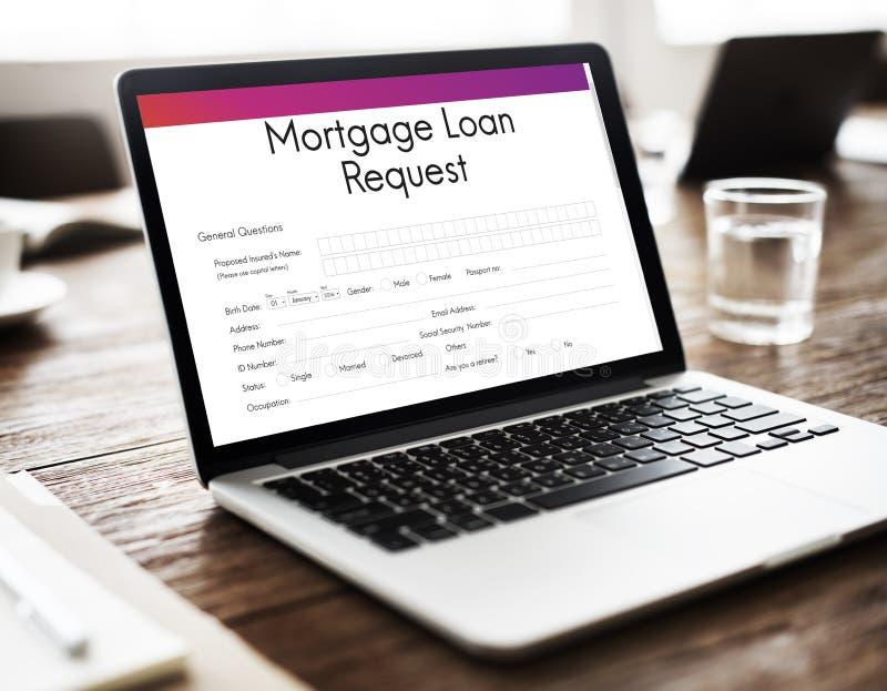 Hipotecznej pożyczki Zastawniczy przyrzeczenie Refinansuje Ubezpieczy pojęcie zdjęcia royalty free