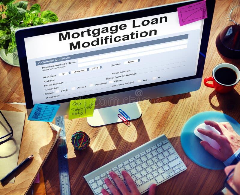 Hipotecznej pożyczki Zastawniczy przyrzeczenie Refinansuje Ubezpieczy pojęcie obraz royalty free