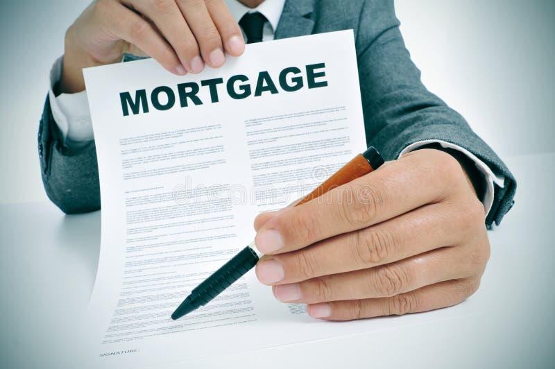 Hipoteczny pożyczkowy kontrakt zdjęcia royalty free