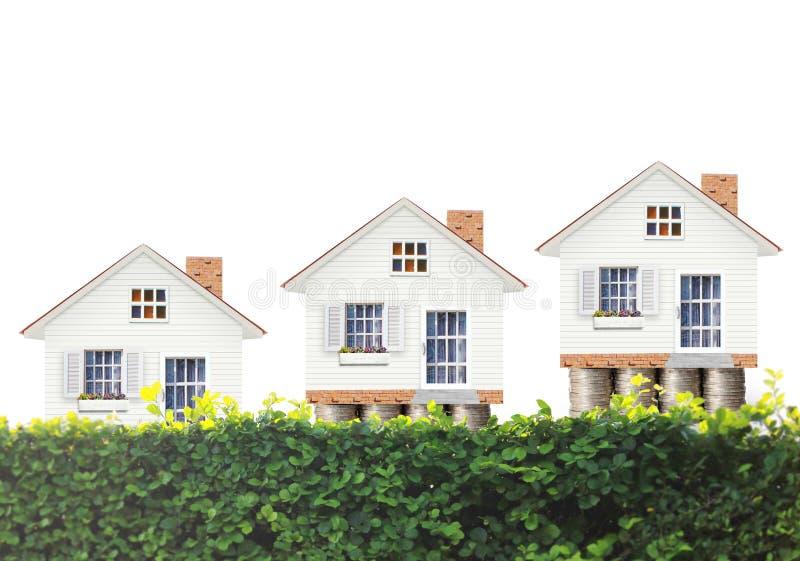 Hipoteczny pojęcie pieniądze domem zdjęcia royalty free