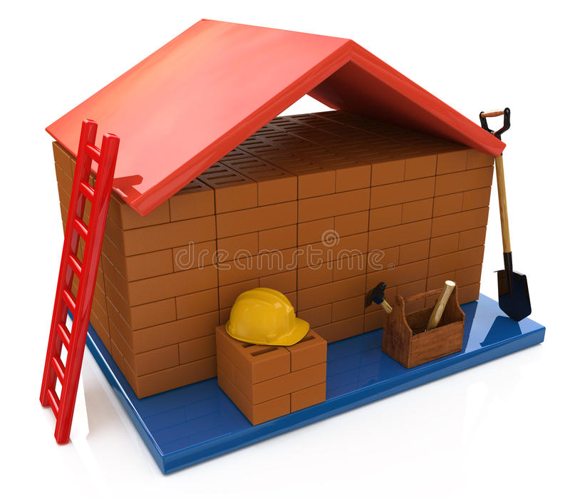 Hipoteka budować dom ilustracja wektor