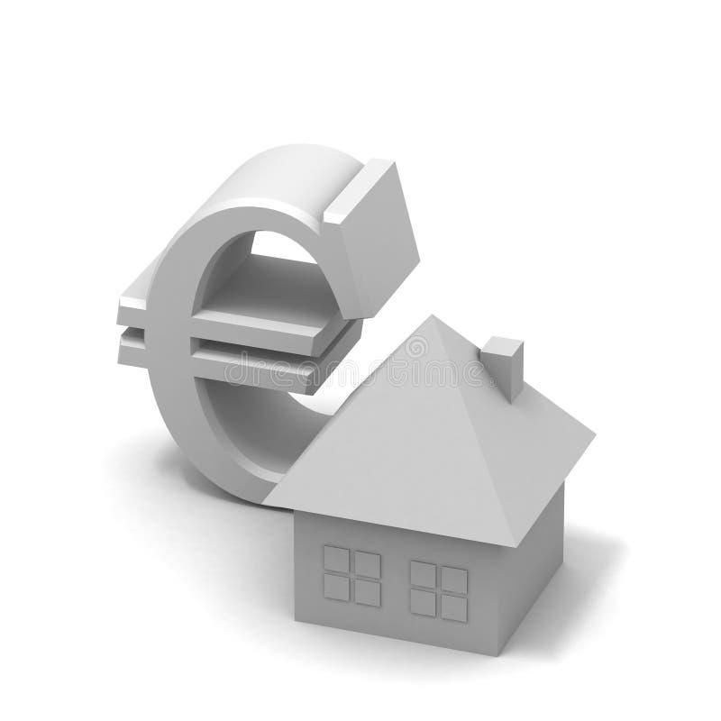 hipoteka pieniądze royalty ilustracja