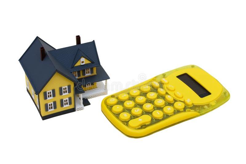 Hipoteque a calculadora imagem de stock
