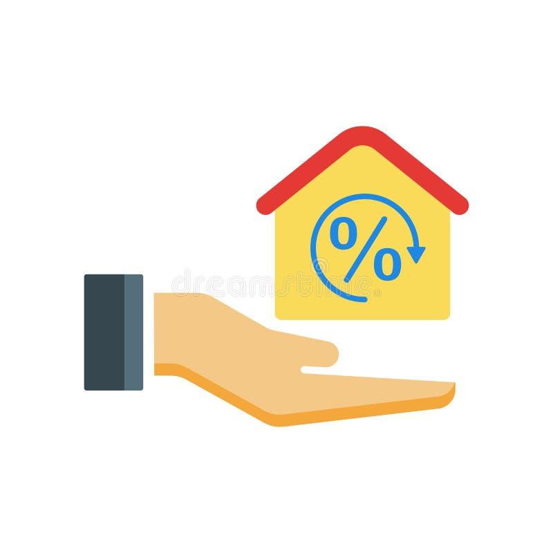 Hipoteque o sinal e o símbolo do vetor do ícone isolados no backgroun branco ilustração royalty free
