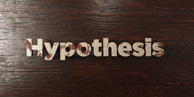 Hipoteza - grungy drewniany nagłówek na klonie - 3D odpłacający się królewskość bezpłatny akcyjny wizerunek ilustracja wektor
