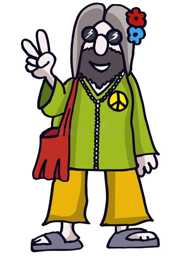 Hippie illustration stock