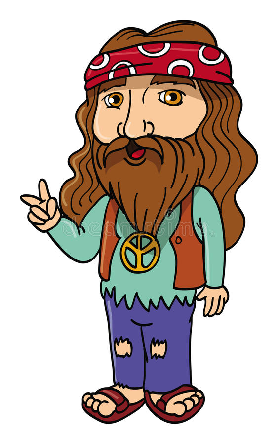 Hippie royalty-vrije illustratie