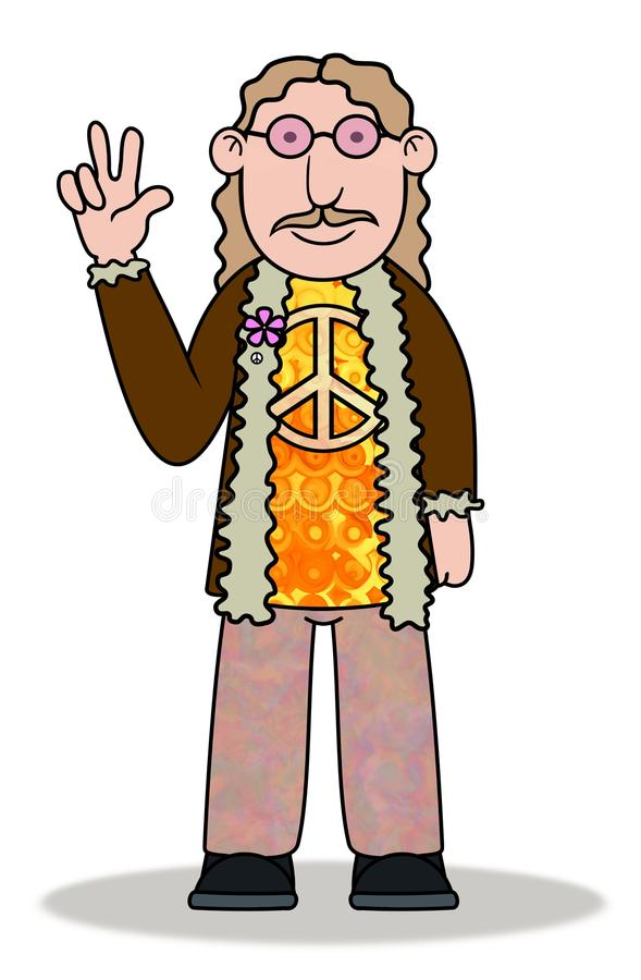 Download Hippie stock illustration. Image of male, illustrated - 23642742