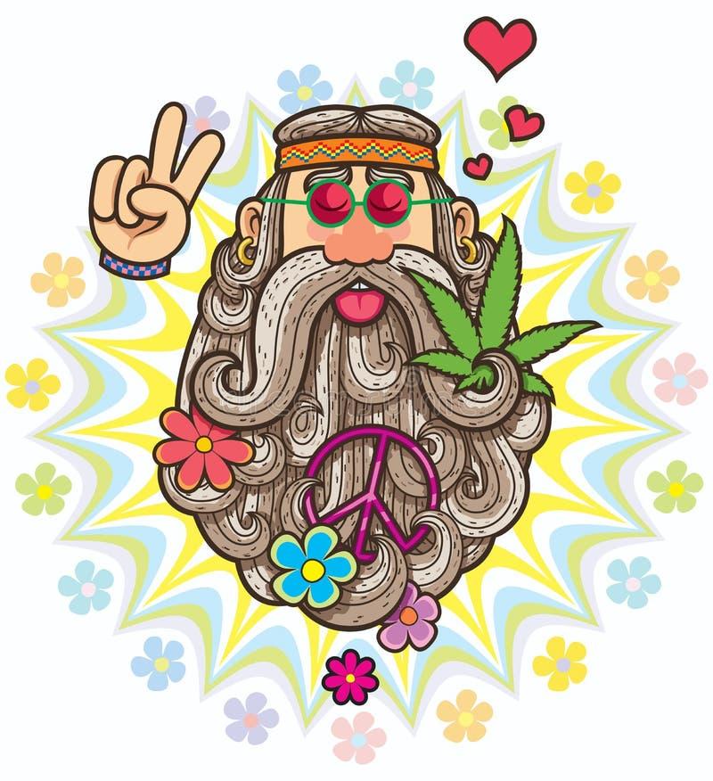 hippie royaltyfri illustrationer