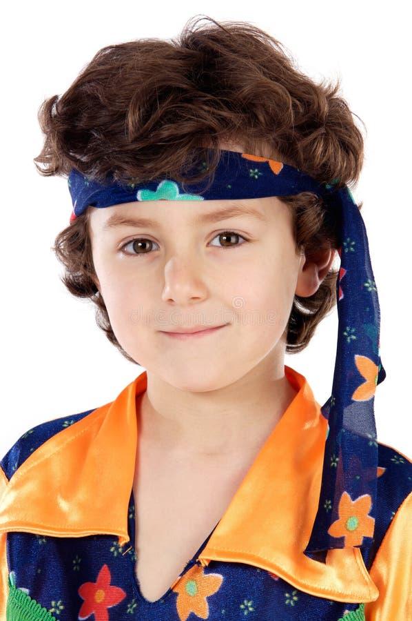 Hippie adorabile del bambino fotografie stock