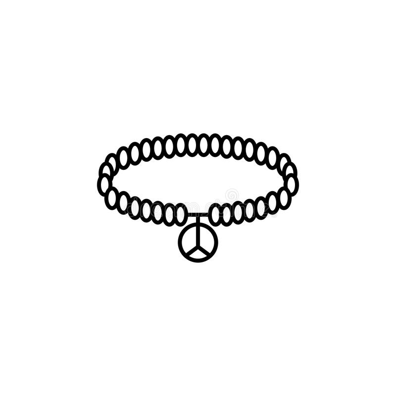 Hippie bracelet icon royalty free illustration