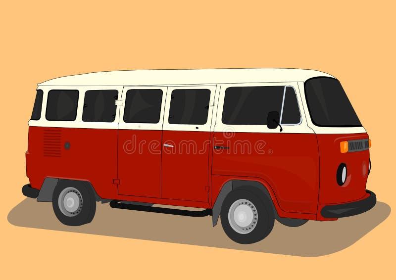 VW minibus or camper stock illustration