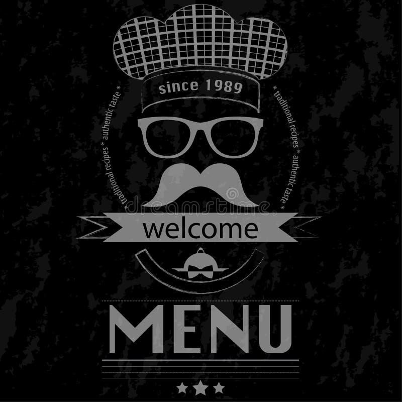 Hippie de déjeuner de menu - affiche de tableau illustration de vecteur