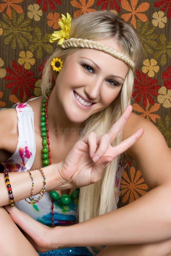 Hippie de sourire images libres de droits