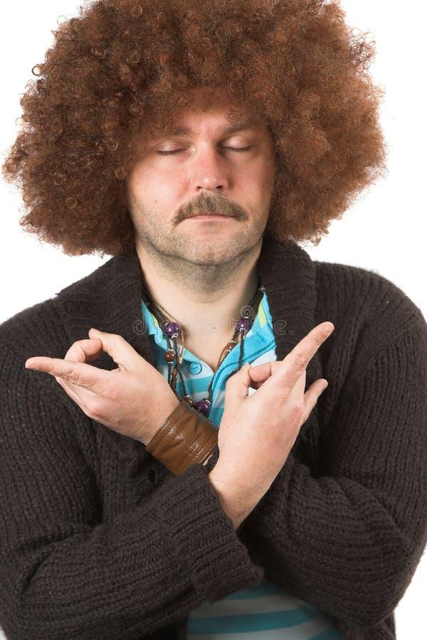 Hippie in der Trance lizenzfreie stockfotos