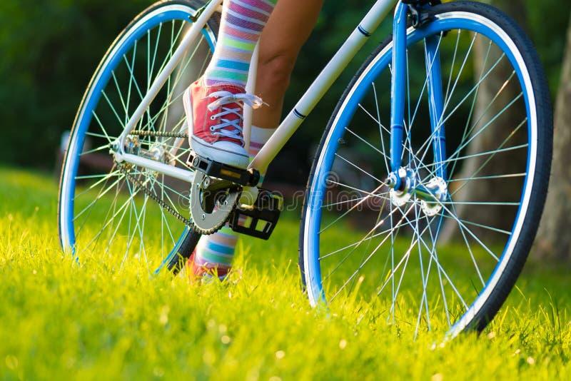 Hippie-Fahrrad stockfotos
