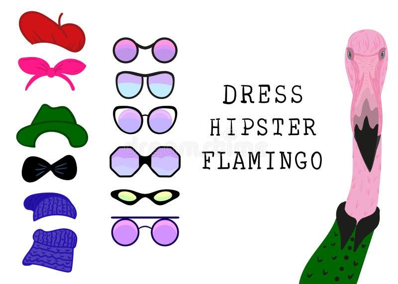 Hippie-Flamingo stock abbildung
