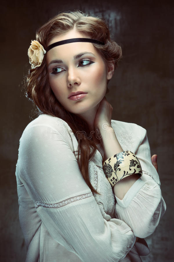 Hippie girl royalty free stock photos