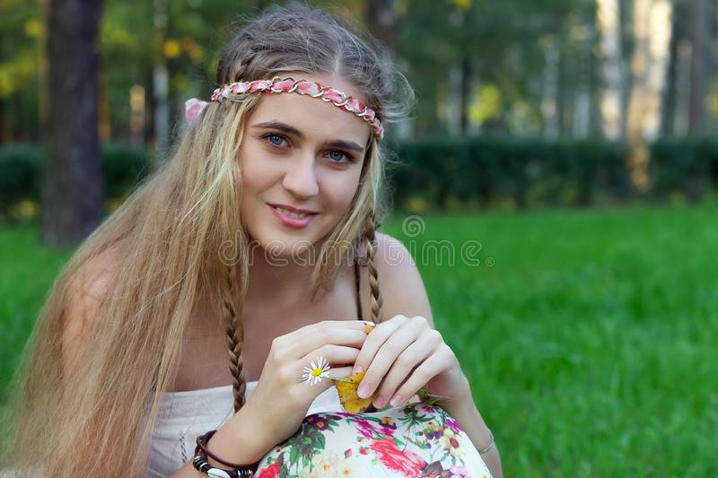 Hippie girl portrait smile   emotion  vibes  attractive free stock images
