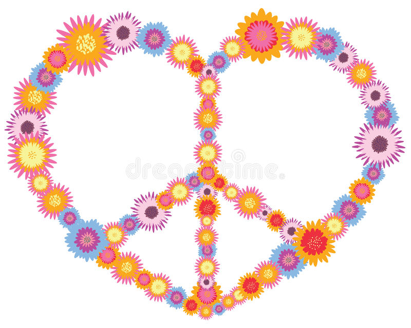 Download Hippie heart stock illustration. Image of design, purple - 14102703