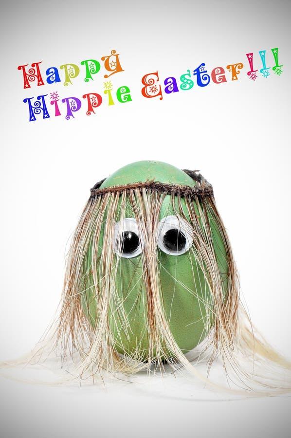 Hippie heureux Pâques photographie stock libre de droits