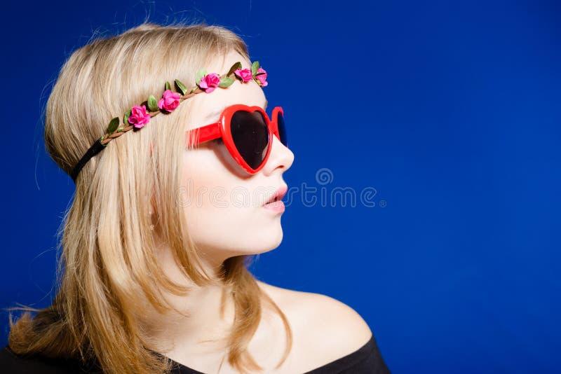 Hippie-Jugendlichmädchen stockfoto