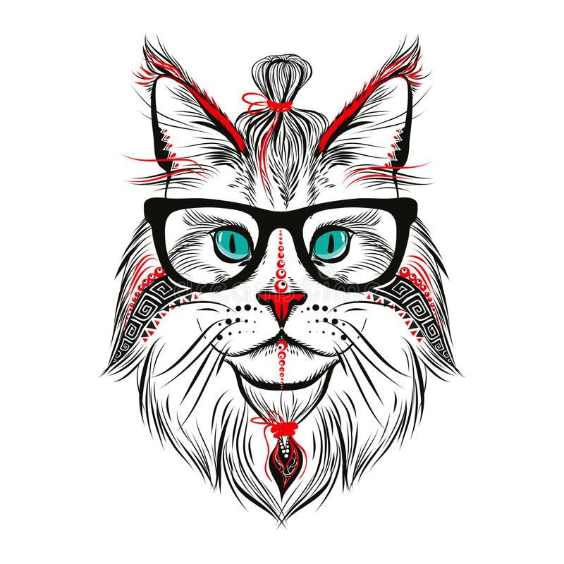 Hippie-Katze lizenzfreies stockbild