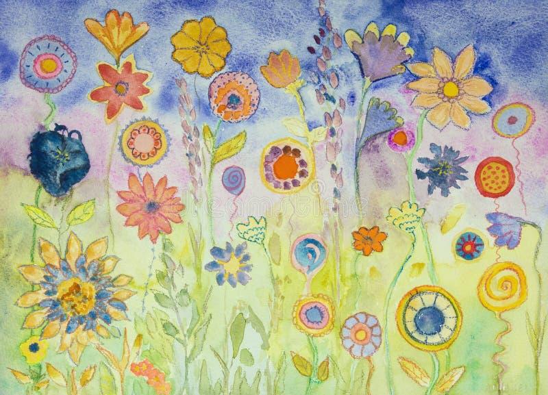 Hippie lollypops en bloemen vector illustratie