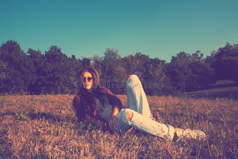 Hippie-Mädchen lizenzfreies stockbild