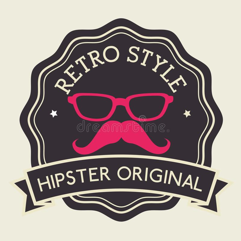 Hippie-Modelebensstil lizenzfreie abbildung