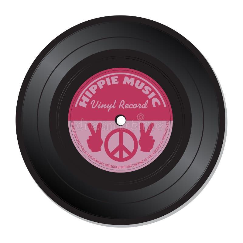 Hippie music vinyl record