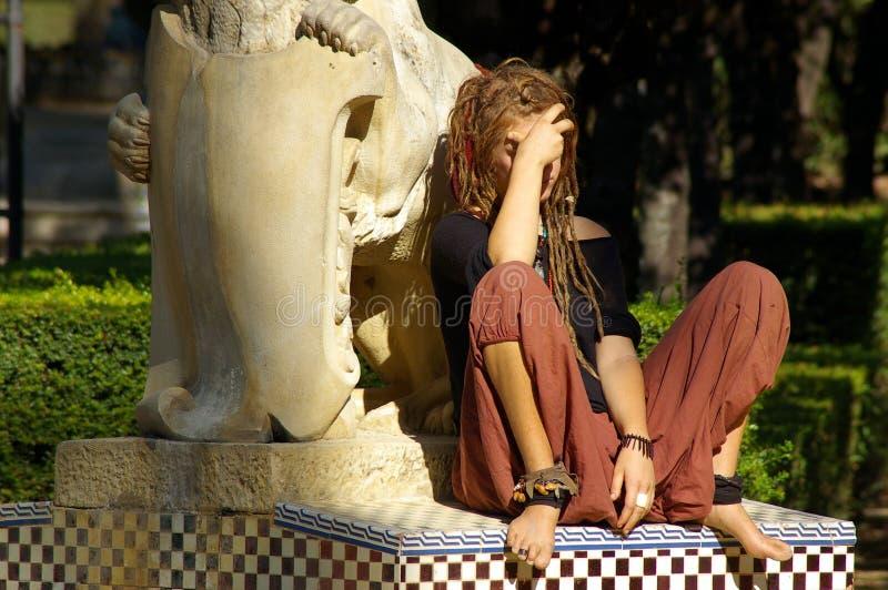 Hippie no sol imagem de stock royalty free