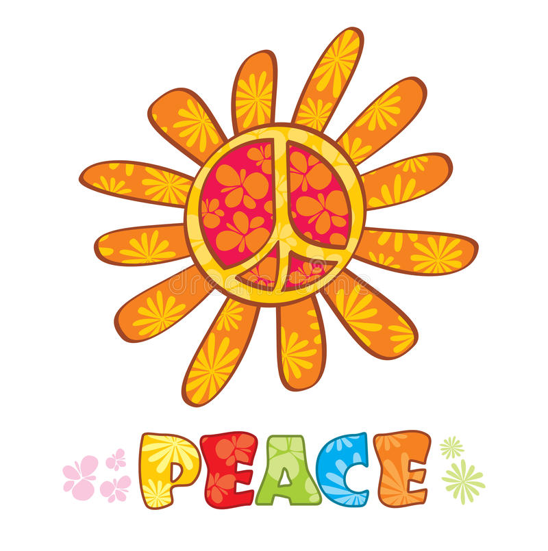 Download Hippie peace symbol stock vector. Illustration of groovy - 13937115