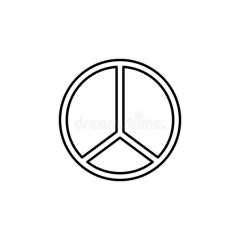 Hippie Peace Symbol Icon Stock Vector Illustration Of Effigy