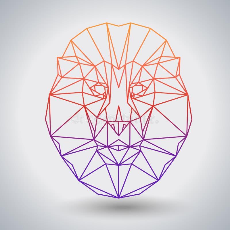 Hippie-polygonaler Tierlöwe Dreiecktier lizenzfreie abbildung