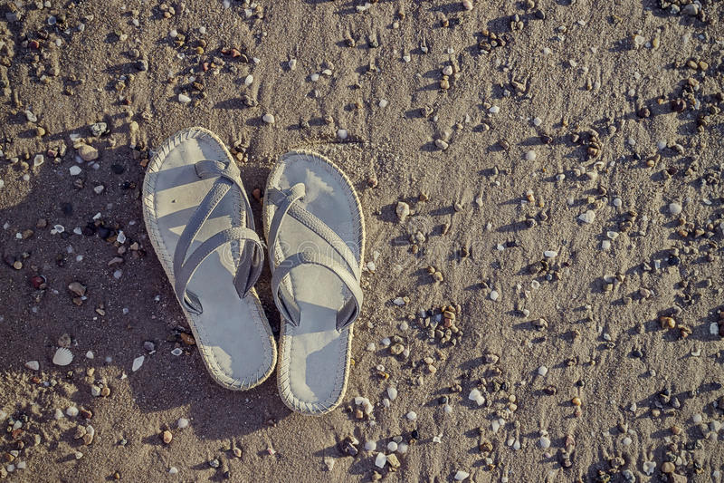 Hippie-stil sandaler arkivbild